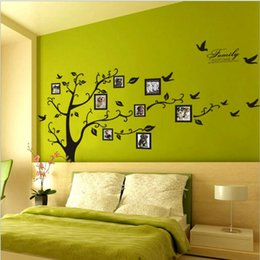 photo sticker wall Promo Codes - Tree photo frame Diy 3D vinyl wall stickers home decor Design living room sofa vintage poster wall art decals home decoration