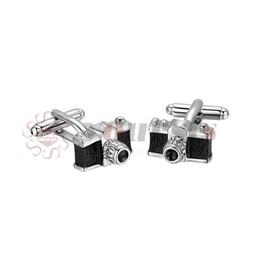 Yoursfs камеры запонки черный для мужчин 3D эмаль свадебные Моды идеальное украшение от