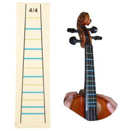 2019 touche de violon 4/4 Violon Pratique Violon Doigt Guide Autocollant Violino Doigt Indicateur de Position Marqueur touche de violon pas cher