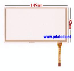 резистивный сенсорный экран Скидка Оптово-новый 6,1-дюймовый 149 * 83 мм 4-проводной резистивный сенсорный экран панели для 149 * 83 мм GPS сенсорный экран дигитайзер панель Ремонт замена