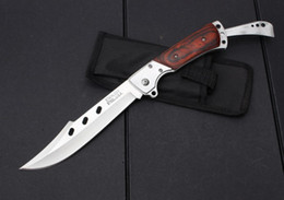 Wholesale NEW steel head color wood Handle Big Folding knife SF34