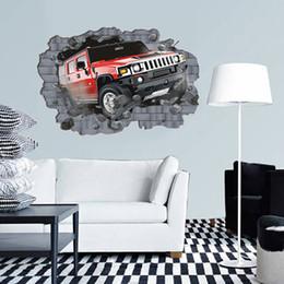 обои для рабочего стола Скидка Бесплатная доставка супер большой творческий 3D автомобиль стикер стены ПВХ обои рулоны настенное изображение для спальни Home Decor 70*100 см