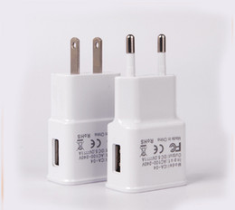 Wholesale Travel Charger Galaxy S2 - Samsung Wall Charger EU US 5V 2A USB Home Adapter Travel Chargers For Galaxy Note S3 S2 100pcs