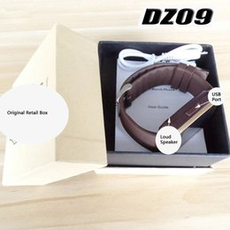 Wholesale Wristwatch Waterproof Camera - A Quality Bluetooth smart watch dz09 for Apple  IOS Samsung  android phone support SIM TF men wristwatch U8 GT08 A1 smartwatch