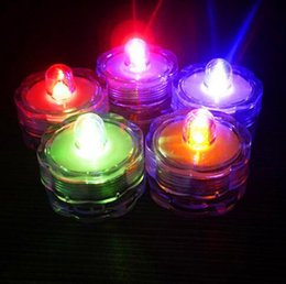 Wholesale Submersible Led Lights Flowers - Flower Submersible Led Lights Underwater Tealight Tea Light for Wedding Birthday Party Vase Decoration Indoor Led Candle Night Lights