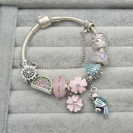 Wholesale fruit charm bracelet - Series 2016 pink fruit watermelon DIY bracelet string act the role of Pandora style charm manufacturers selling in Europe