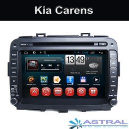 Wholesale Dvd Kia Carens - Double din car dvd cd player with gps navigation support wifi obd radio bluetooth mp3 tv in dash design for Kia Carens