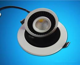 luci registrabili regolabili regolabili Sconti COB regolabile Dimmerabile LED Down light 10 W incasso lampada lampada da tavolo rotazione 360 gradi rotante luminaria 85V-265V CEROHS
