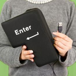 Wholesale Computer Vent - Big Enter Button Computer USB Connection enter key vent ENTER key nap pillow decompression return key nap pillow Decompression Toy