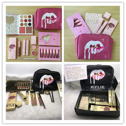 Wholesale Limited Gift - Kylie Gift Box Golden package black Makeup Bag Birthday x I want it all pink limited Edition Birthday Bundle Bronze Kyliner Chrismas Gift