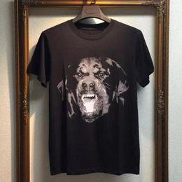 Wholesale Xl Dog Clothes - brand men fashion t-shirt cotton 3D Rottweiler dog kanye west yeezus tshirt short sleeve t shirt clothing hip hop