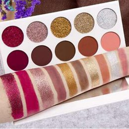 Wholesale Glitter Cream Palette - Glamierre Glitzy Glam Eyeshadow Palette 5colors Glitter 5 colors cream matte eyeshadow NEW Makeup cosmetics DHL shipping