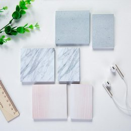 Wholesale Kawaii Notepads - marble post it memo notepad cute sticky notes planner stationery kawaii office school supplies to do list note