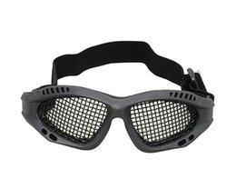 Wholesale Metal Mesh Goggles - High Quality Outdoors Hunting Airsoft Net Tactical Shock Resistance Eyes Protecting Outdoor Sports Metal Mesh Glasses Goggle