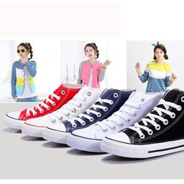 Wholesale Rubber Mail - High help new canvas shoes women casual shoes sandals cloth shoes students men's and women's shoes with flat bag mail