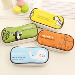Wholesale Cute Files - new boy girl cartoon pencil case bag kawaii School Pouches cute BIG volume children student pen sack stationery kids gifts prize