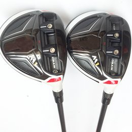 Wholesale fairway shafts - New mens Golf Clubs M1 Golf fairway wood 3 5 loft Graphite Golf shaft and headcover wood clubs Free shipping