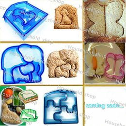 Wholesale Tool Shaped Cakes - Sandwich Bread Cutter Dinosaur Dog Butterfly Shape Cake Mold Bread Moulds Cake Tools Maker Kitchen Bakeware Hot Sale
