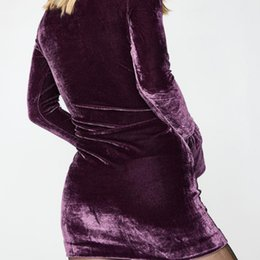 Wholesale Catwalk Dresses Wholesale - Winter Warm Hot Fashion Ultra Long Sleeved Turtleneck Suede Ladies Dress Catwalk With Acceptable Occupation Character Customization