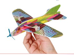 Wholesale Toy Glider Planes Kids - 2016 Make Your Own Foam Glider Assorted Power Prop Flying Gliders Bird Gliders Planes Aeroplane Kids Children DIY Puzzles Toys
