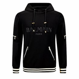 Wholesale Nwt Fashion - Mens Sweat Shirt Hoodie Black Hoodie Jumper Designer Top Sweatshirts NWT Size M-XXL