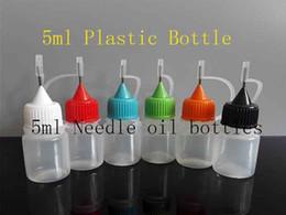 Wholesale Empty Electronic Cig - 5ml PE 3ml Empty E-liquid Bottle Needle Dropper Bottle for Ego Electronic Cigarette E-cig liquid Plastic oil Bottle 100pcs