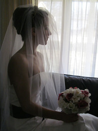 Wholesale cathedral veil without comb - 2016 New Top Quality Best Sale Cathedral White Ivory Cut Edge Veil Without Com Without Comb Bridal Head Pieces For Wedding Dresses