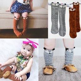 Wholesale Cartoon Animal Socks Toddlers - New Fashion Unisex Baby Girl&Boy 3D Fox Toddlers Kids Pattern Cute Cartoon Socks Knee High Socks