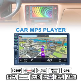 Wholesale Gps Bluetooth Rear View Mirror - 7 Inch 2 DIN Bluetooth Car Stereo MP5 Player GPS Navigation AM FM RDS Radio Support Mirror Link Aux In Rear View Camera CMO_22D