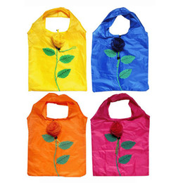 Wholesale Recycle Polyester - Rose Shopping Bag Reusable tote foldable bag Recycle Environmental Tote Folding Grocery Suppping Bags free shipping