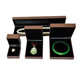 Wholesale Fine Sponge - 4pcs High Quality Brand Sponge Velvet Fine Jewellery Gift Packaging Ring Bracelet Necklace Pendant Boxes