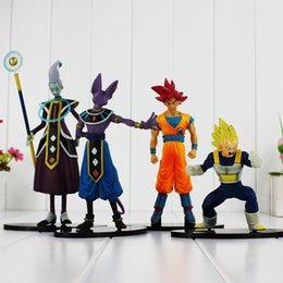 Wholesale New Game Figure - New Arrival Dragon Ball Z Battle of Gods Beerus Whis Son Goku Vegeta PVC Dolls Action Figure Toy Collective Dolls 12-19CM