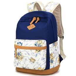e0c48b69488c High Quality Floral Canvas Bag Backpack School for Teenager Girl Laptop Bag  Printing Backpack Women Backpack