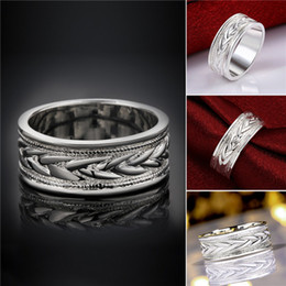 Wholesale Wholesale Weaves China - Brand new 10 pieces 925 silver Ring weave pattern Free shipping GSSR650 Factory direct sale mix size fashion sterling silver finger ring