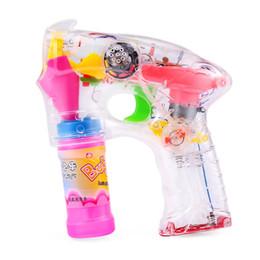 Wholesale Toy Bubble Guns - LED Flashing Light Sound Electronic Bubble Gun Ray Shooter Kids Christmas Gift Toy Bubble Water Gun Music Flash Bubble Machine +NB