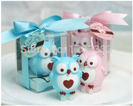 Wholesale Candle Birthday Party Favors - 100pcs lot free shipping Baby shower favors birthday part owl candle gifts wedding party decoration