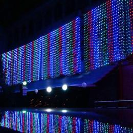 Canada 500 Led Rideau Lumière 10 m * 1.5 m 110- 220 v De Noël De Noël En Plein Air Chaîne Fée Lumières De Noce Décoration De Décoration Lampes Au Eu Us Uk Plug supplier eu flash Offre