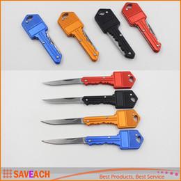 Wholesale Swiss Keys - Folding key knives Outdoor Camping multi-function key chain knife Folding Pocket Knife Swiss creative gift knives