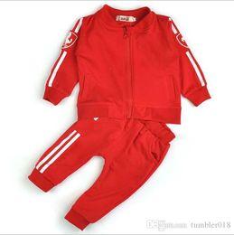 Wholesale Boys Sport Coat 12 - baby girl and boy sport suit kids sets coat and pant 2 pcs set children tracksuits cardigan pure cotton suits 2016 spring autumn.