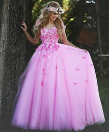 Wholesale fairy dresses for girls - 2016 New Fairy Pink Prom Dresses Spaghetti Flowers Appliques A Line Floor Length Modest Evening Party Special Occasion Dress For Girl Woman