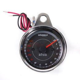 Wholesale Digital Odometer Speedometer Tachometer Motorcycle - 5 Ppcs lot 2016 New Design Universal Motorcycle Mortorbike Digital Speedometer Guage Tachometer Odometer Rev Counter 0-13000 RPM AUP_303