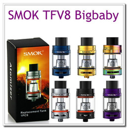 Wholesale Tops M2 - Single SMOK TFV8 Big Baby beast Tank with Airflow Control 5ml Top Filling Cloud V8 Baby-M2 Coils Atomizer stick v8 vaporizer starter kits