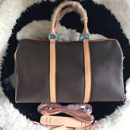 voyage à boston Promotion En gros sac à bandoulière réelle oxydation en cuir mode célèbre duffle sac de voyage sacs à main de luxe presbyte boston messenger sac keepall