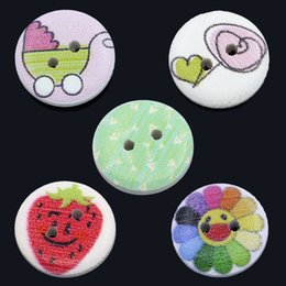 2017 trous de bois Wholesale Acces Figure Four Hole Wooden Buttons 30mm 50pcs 45L Boutons en bois Paintfigure Boutons en bois trous de bois ventes
