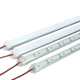 Wholesale Plastic Led Light Strips - 50cm DC 12V 11W 5630 SMD 36 LED Waterproof Rigid Strip Cabinet Light with Cover and Plastic Mount