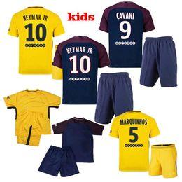 Wholesale Ben Shirt - NEW 2018 Neymar jr soccer jersey kids home away jersey Di Maria Matuidi Silva Ben Arfa Cavani Draxler Dani Alves Football shirt