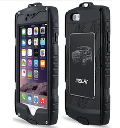 Wholesale Heavy Duty Armour Iphone Case - MB Heavy Duty hybrid Armour Case for iPhone 6 6S plus with Built-in Screen Protector Water Resist DHL SCA129