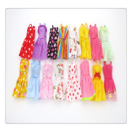 Wholesale Western Dresses For Baby Girls - BestSeller Doll Clothes Baby Doll Dress Short Dress For Barbie Dolls Can Any Change Clothes Style Color Random Doll Clothes Toys Free DHL
