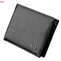 Wholesale Vintage Interior Design - Hot Sale Business Male Wallet Leather Design Mens Wallets Cards Holder Brand Quality Purse Wallet For Men Black Brown Short Wallets SV000195