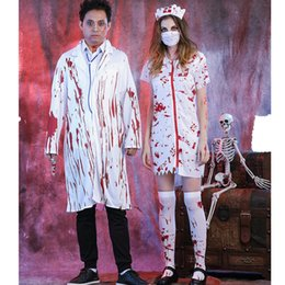 b46f01f5a3191 Halloween costumes female stage costumes terrible masquerade zombie uniform  doctors and nurses vampire clothing men and women